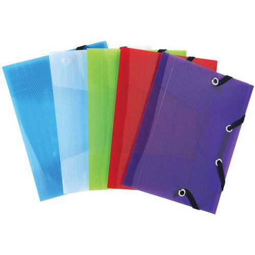 Chemise à élastique 3 rabats Polypro Crystal Colour pocket