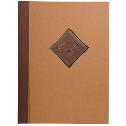 Album de timbres Collection 16 pages blanches - 22,5x30,5cm
