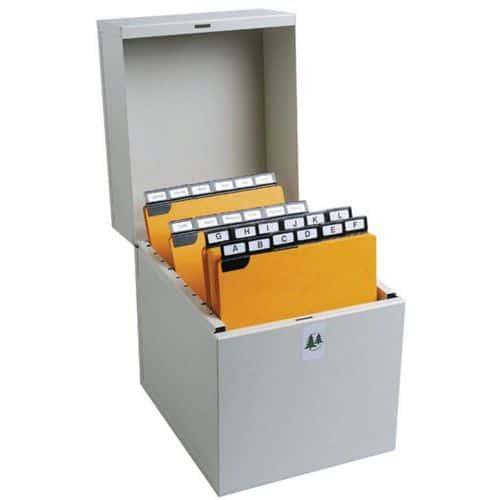 Boîte à fiches Metalib - Classement verticale - 105x74mm à 125x75mm