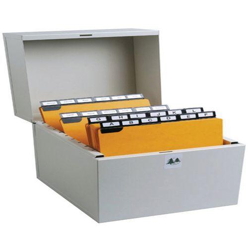 Boîte à fiches Metalib - Classement horizontal - 74x105mm à 75x125mm