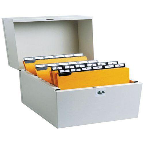 Boîte à fiches Metalib - Classement horizontal - 125x200mm