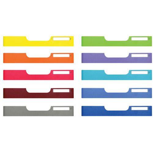 Set de 10 frontons A4 taille normale (coloris assortis) MODULODOC