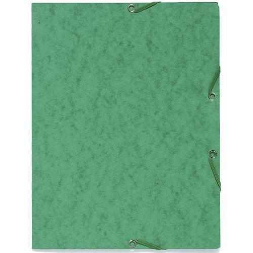 Chemise à élastique 3 rabats sans étiquette de dos carte lustrée - A4