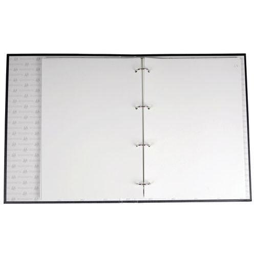Reliure Registre 32x25cm 4 Anneaux Avec Recharge Livre Journal Manutan Fr