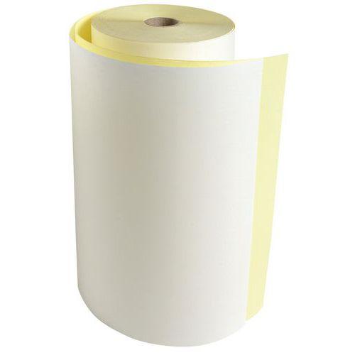 Bobine Télex - 2 plis chimique autocopiant 57g/m2