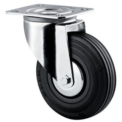 roulette pivotante monture platine force 35 200 kg. Black Bedroom Furniture Sets. Home Design Ideas