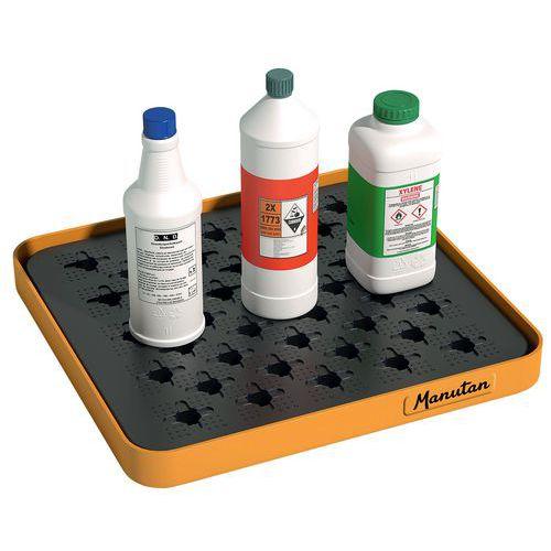 Bac de rétention de laboratoire carré 5 et 10 L - Manutan