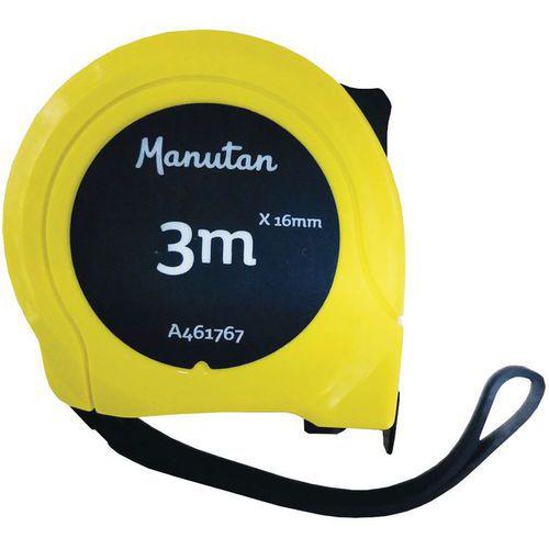 Mètre Ruban 3 et 2 m x 16 mm et 5 m x 19 mm - ABS - Manutan