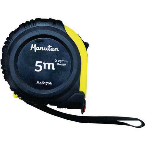 Mètre Ruban 5 et 8 m x 25 mm et 3 m x 19 mm - ABS - Grip - Aimant - Manutan