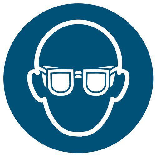 Panneau d'obligation - Port de lunettes de sécurité obligatoire - Rigide