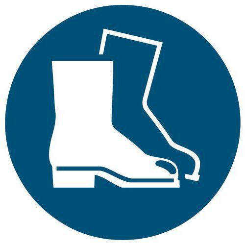 Panneau d'obligation -  Port de chaussures de sécurité obligatoire - Rigide