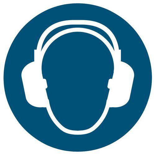 Panneau d'obligation Port de protection auditive obligatoire - Rigide