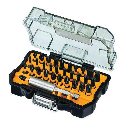 Coffret 35 embouts impact torsion 25mm + 1 porte-embouts - Dewalt