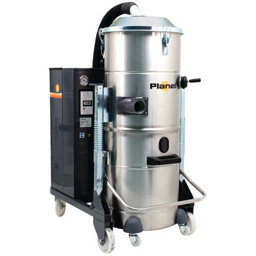 Aspirateur poussière industriel 5500W triphasé inox 100L_ICA