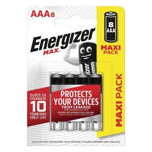 Pile Max AAA - Lot de 8 - Energizer