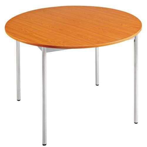 Table ronde - 4 pieds en merisier