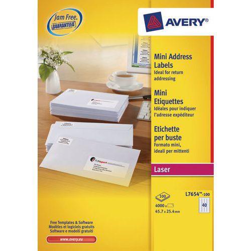 Mini-étiquette Avery - Impression laser