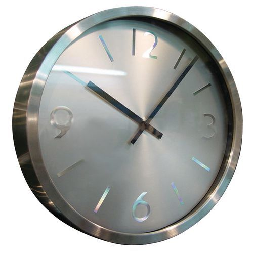 Horloge murale inox for Horloge murale inox