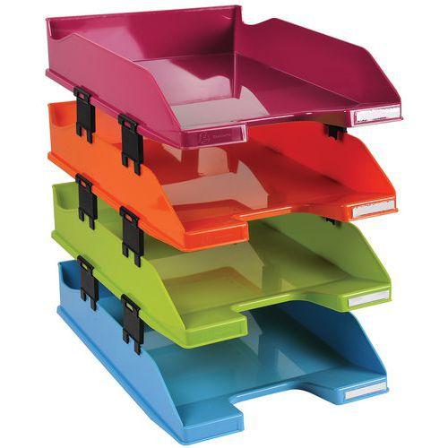 Set de Corbeille à courrier Combo coloris assortis - Lot de 4