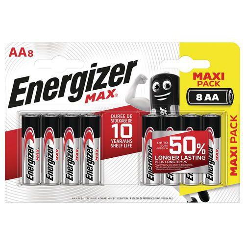 Pile Max AA - Lot de 8 - Energizer