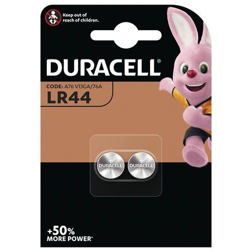 Pile bouton Alcaline LR44 V13GA - Pack de 2 - Duracell