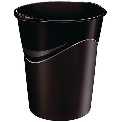 Corbeille à papier noire 14 L - Manutan