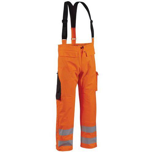 Pantalon de pluie haute visibilité niveau 2 fluorescent