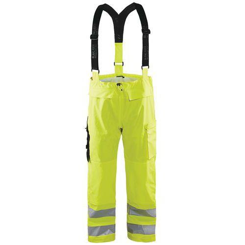 Pantalon de pluie haute visibilité niveau 3 fluorescent