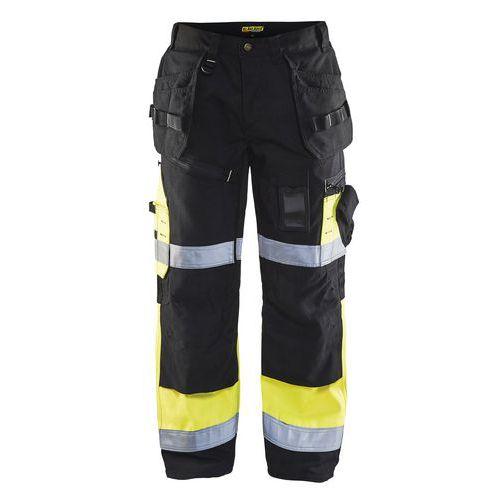 Pantalon X1500 artisan haute visibilité noir/jaune fluorescent