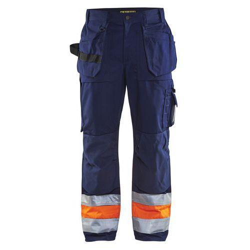 Pantalon artisan haute visibilité marine/orange fluorescent