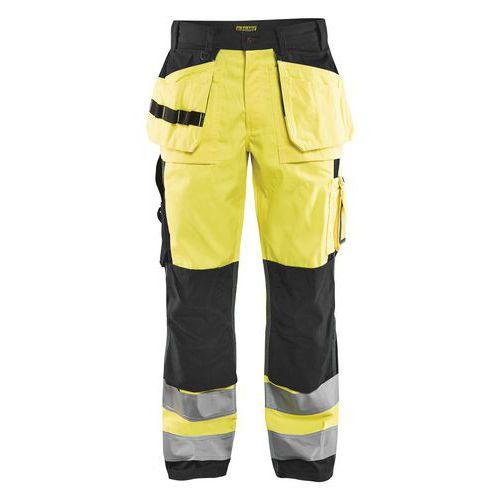 Pantalon artisan haute visibilité jaune fluorescent/noir