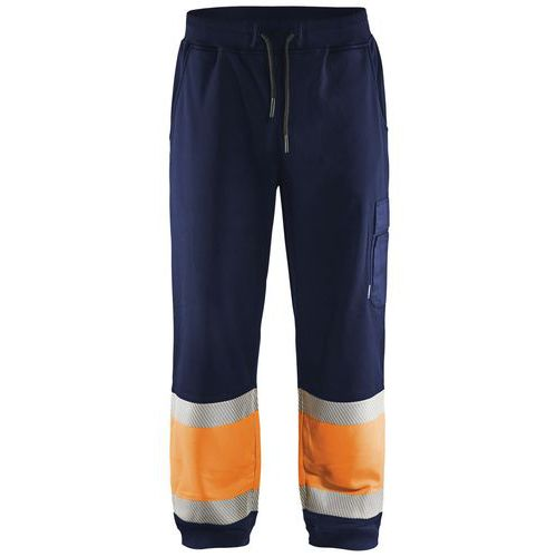 Jogging haute visibilité marine/orange fluorescent