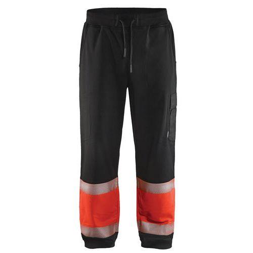 Jogging haute visibilité noir/rouge fluorescent