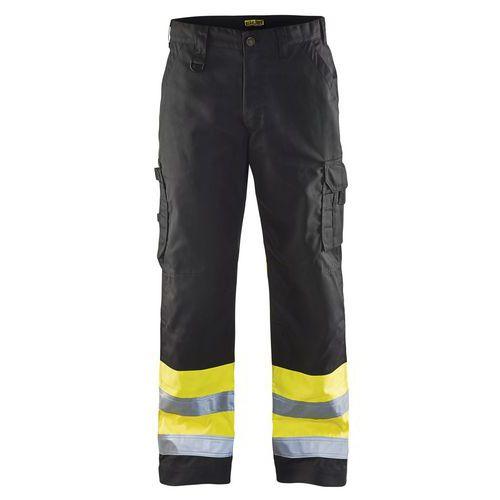 Pantalon haute visibilité noir/jaune fluorescent