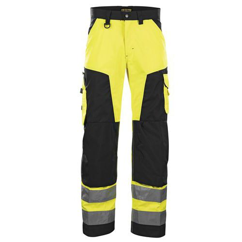 Pantalon haute visibilité jaune fluorescent/noir