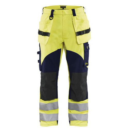 Pantalon multinormes inhérent jaune fluorescent/marine