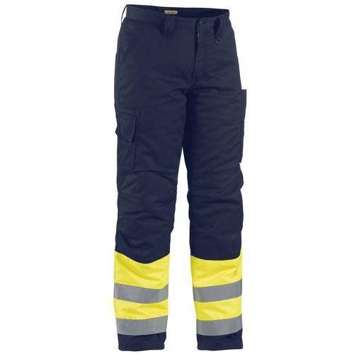 Pantalon haute visibilité hiver jaune fluorescent/marine