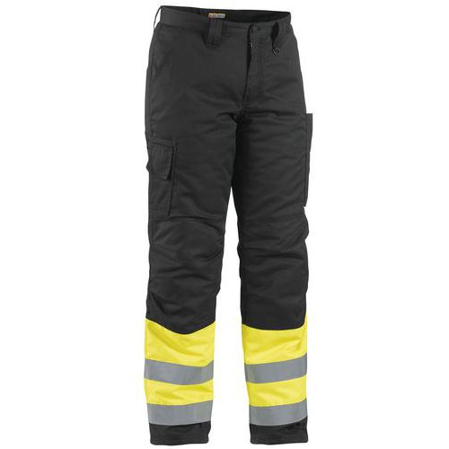 Pantalon haute visibilité hiver jaune fluorescent/noir