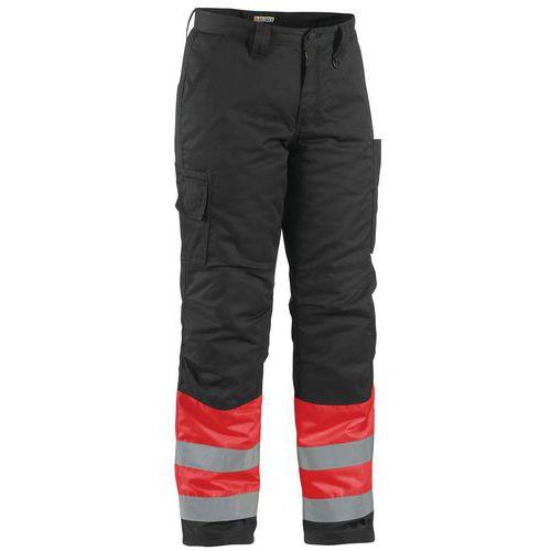 Pantalon haute visibilité hiver rouge fluorescent/noir