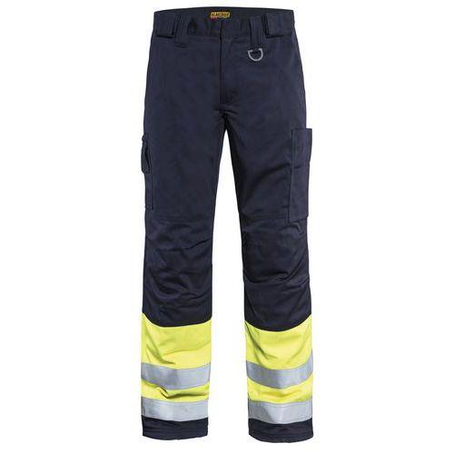 Pantalon hiver multinormes marine/jaune fluorescent
