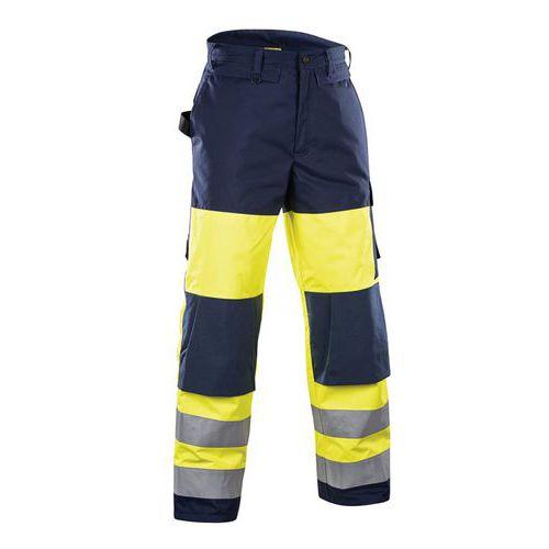 Pantalon hiver haute visibilité jaune fluo/marine, coutures étanchées
