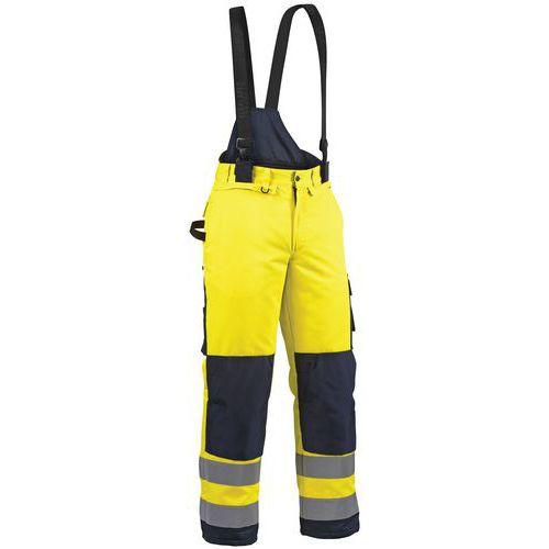 Pantalon hiver haute visibilité jaune fluorescent/marine