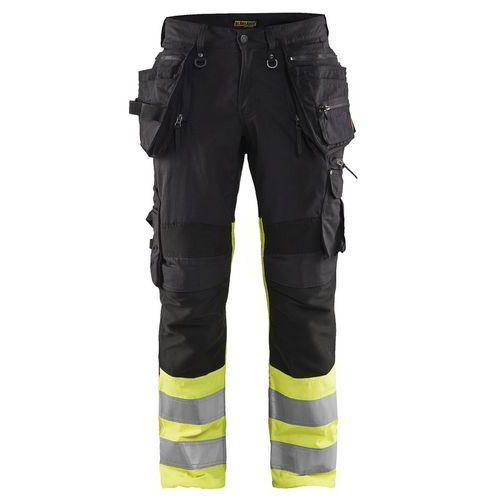 Pantalon x1900 artisan stretch haute visibilité noir/jaune fluorescent