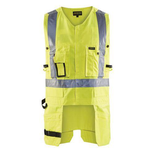 Gilet porte-outils haute visibilité jaune fluorescent