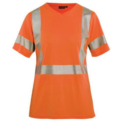 T-shirt haute visibilité femme orange fluorescent