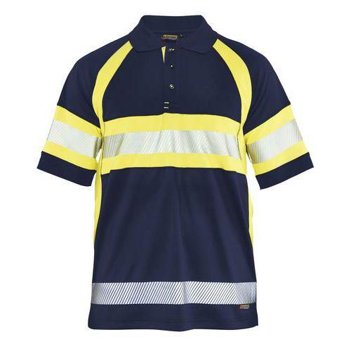 Polo haute visibilité marine/jaune fluorescent