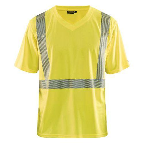 T-shirt anti-UV haute visibilité jaune fluorescent