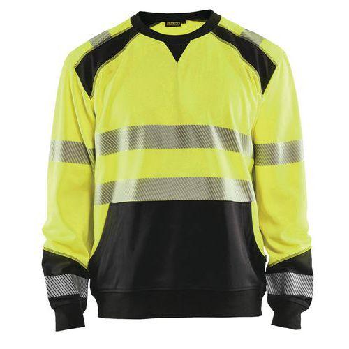 Sweat haute visibilité jaune fluorescent/noir