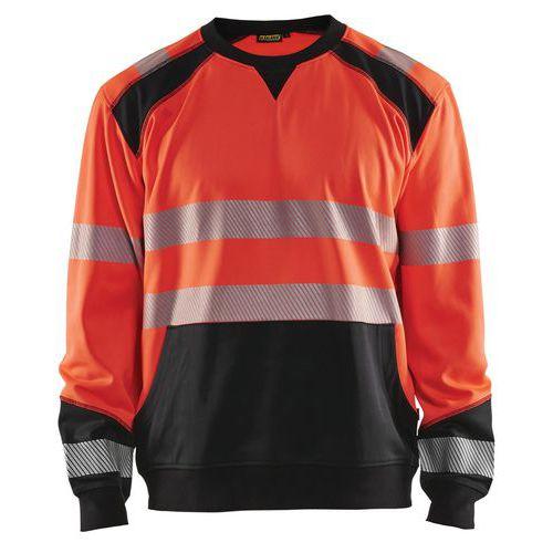 Sweat haute visibilité rouge fluorescent/noir