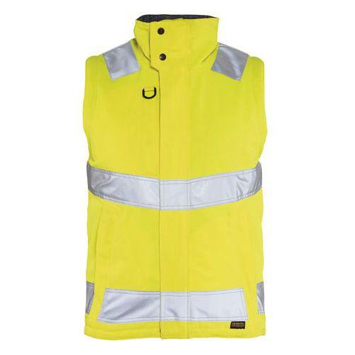 Gilet haute visibilité hydrofuge jaune fluorescent